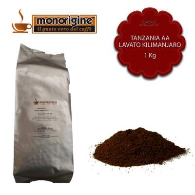 Caffè macinato per moka Tanzania AA Lavato Kilimanjaro - 1 Kg