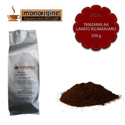 Caffè macinato per moka Tanzania AA Lavato Kilimanjaro - 250 gr