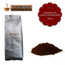 Caffè macinato per espresso Tanzania AA Lavato Kilimanjaro - 500 gr